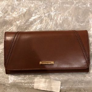 Burberry Brindle Leather Continental WAllet
